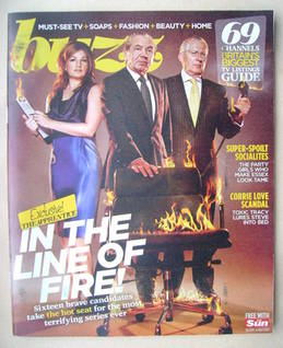 Buzz magazine - Karren Brady, Alan Sugar and Nick Hewer cover (30 April 2011)