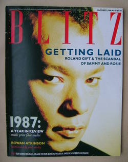 <!--1988-01-->Blitz magazine - January 1988 - Roland Gift cover