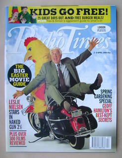<!--1994-04-02-->Radio Times magazine - Leslie Nielsen cover (2-8 April 199