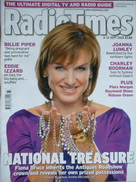 <!--2008-09-06-->Radio Times magazine - Fiona Bruce cover (6-12 September 2