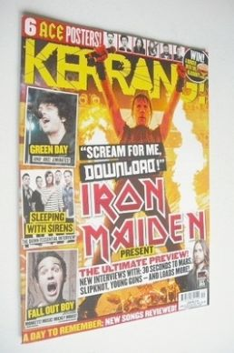 <!--2013-06-15-->Kerrang magazine - Iron Maiden cover (15 June 2013 - Issue