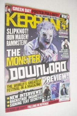<!--2013-06-22-->Kerrang magazine - The Monster Download Review cover (22 J