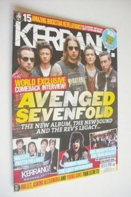 <!--2013-07-13-->Kerrang magazine - Avenged Sevenfold cover (13 July 2013 -