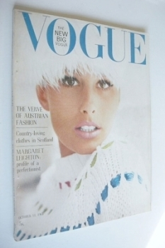 British Vogue magazine - 15 October 1963 (Vintage Issue)