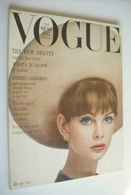<!--1963-05-01-->British Vogue magazine - 1 May 1963 - Jean Shrimpton cover