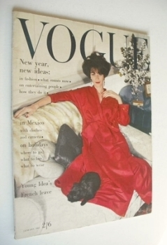 British Vogue magazine - January 1963 (Vintage Issue)