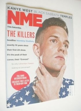 <!--2013-06-23-->NME magazine - The Killers cover (22 June 2013)
