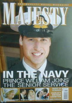 Majesty magazine - Prince William cover (July 2008 - Volume 29 No 7)