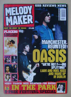 <!--2000-07-12-->Melody Maker magazine - Oasis cover (12-18 July 2000)