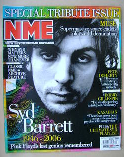 <!--2006-07-22-->NME magazine - Syd Barrett cover (22 July 2006)