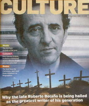 <!--2008-12-07-->Culture magazine - Roberto Bolano cover (7 December 2008)