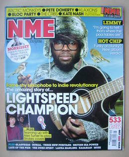 <!--2008-02-02-->NME magazine - Lightspeed Champion cover (2 February 2008)