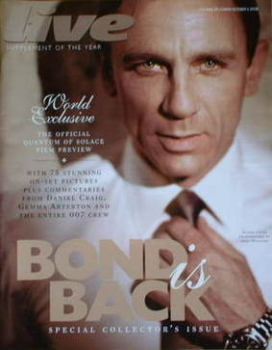 Live magazine - Daniel Craig cover (5 October 2008)