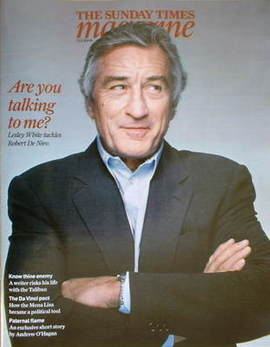 <!--2008-12-07-->The Sunday Times magazine - Robert De Niro cover (7 Decemb