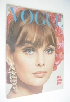 British Vogue magazine - January 1965 - Jean Shrimpton cover