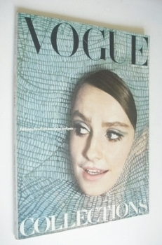 British Vogue magazine - 1 March 1965 - Beate Schultz cover