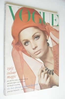 <!--1965-04-01-->British Vogue magazine - 1 April 1965 - Sue Murray cover