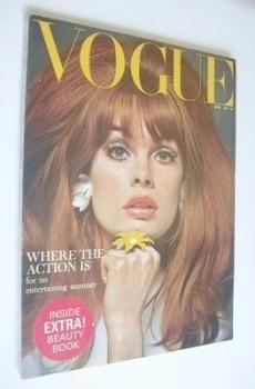 British Vogue magazine - June 1965 - Jean Shrimpton cover