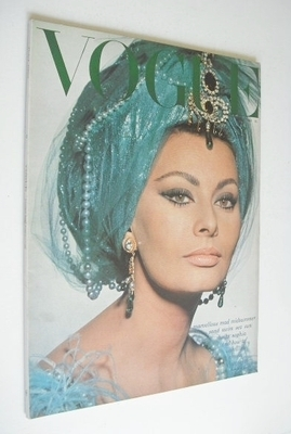 <!--1965-07-->British Vogue magazine - July 1965 - Sophia Loren cover