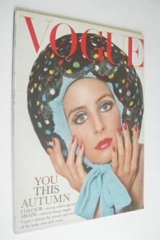 British Vogue magazine - August 1965 - Jill Kennington cover