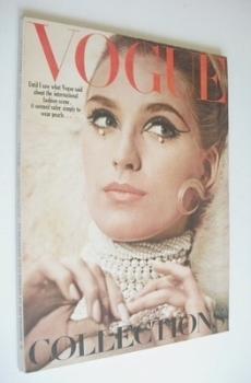 British Vogue magazine - 1 September 1965 - Marika Greene cover