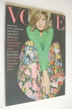 British Vogue magazine - 1 October 1965 - Monica Vitti cover