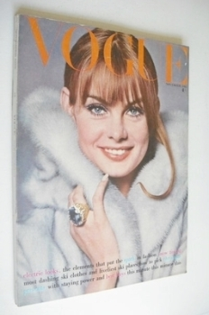 British Vogue magazine - November 1965 - Jean Shrimpton cover