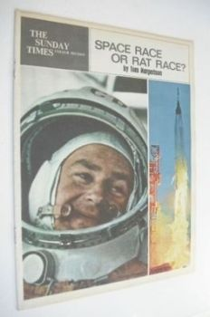 The Sunday Times Colour Section magazine - Space Race Or Rat Race cover (15 July 1962)