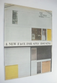 The Sunday Times Colour Section magazine - A New Face For Spec Housing cover (12 August 1962)