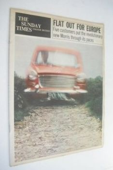 The Sunday Times Colour Section magazine - Morris 1100 cover (19 August 1962)