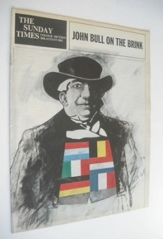 The Sunday Times Colour Section magazine - John Bull cover (26 August 1962)