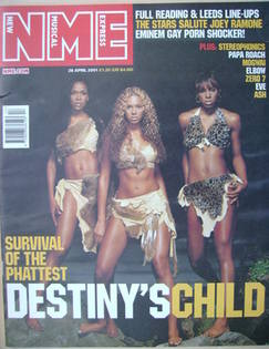 <!--2001-04-28-->NME magazine - Destiny's Child cover (28 April 2001)