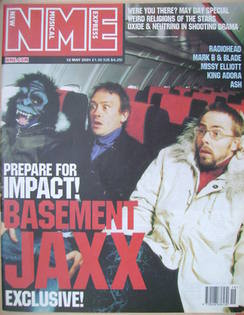 <!--2001-05-12-->NME magazine - Basement Jaxx cover (12 May 2001)