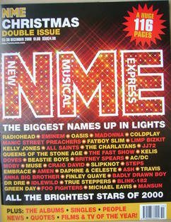 <!--2000-12-23-->NME magazine - Christmas double issue (23/30 December 2000