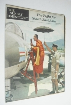 The Sunday Times Colour Section magazine - The Fight For South East Asia cover (4 November 1962)