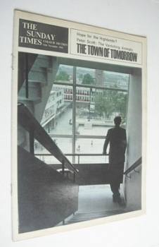 The Sunday Times Colour Section magazine - The Town Of Tomorrow cover (11 November 1962)