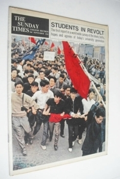 The Sunday Times Colour Section magazine - Students In Revolt cover (2 September 1962)