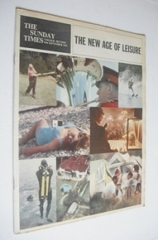 The Sunday Times Colour section - The New Age Of Leisure cover (16 September 1962)