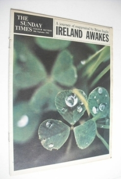 The Sunday Times Colour section - Ireland Awakes cover (30 September 1962)