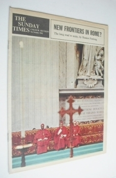 The Sunday Times Colour section - New Frontiers In Rome cover (7 October 1962)