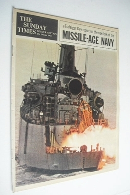 <!--1962-10-21-->The Sunday Times Colour section - Missile-Age Navy cover (