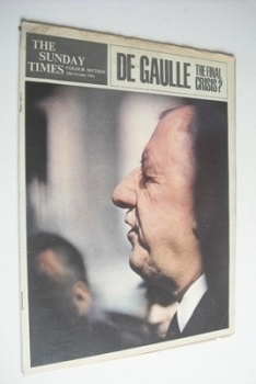 The Sunday Times Colour section - Charles de Gaulle cover (28 October 1962)