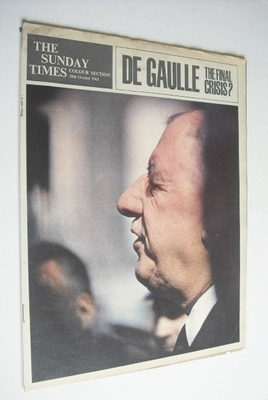 <!--1962-10-28-->The Sunday Times Colour section - Charles de Gaulle cover