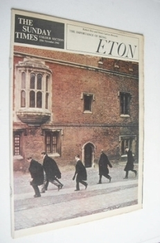 The Sunday Times Colour section - Eton cover (25 November 1962)
