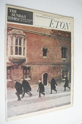 <!--1962-11-25-->The Sunday Times Colour section - Eton cover (25 November