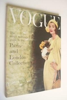 British Vogue magazine - March 1957 (Vintage Issue)