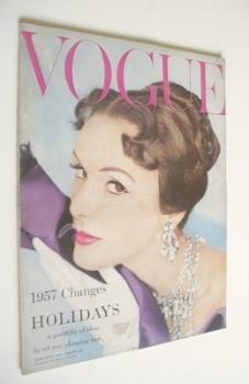 British Vogue magazine - January 1957 (Vintage Issue)