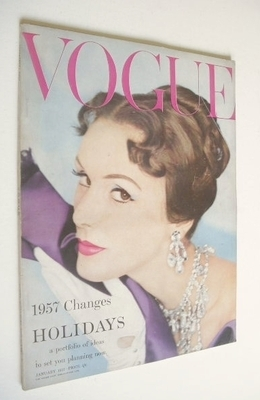 <!--1957-01-->British Vogue magazine - January 1957 (Vintage Issue)