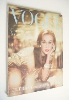 British Vogue magazine - December 1957 (Vintage Issue)