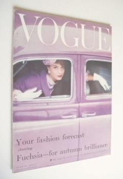 British Vogue magazine - August 1957 (Vintage Issue)